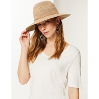 M&S Collection Soft Fedora Hat