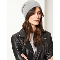 M&S Collection Cable Knit Beanie Hat