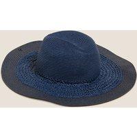 MandS Collection Straw Wide Brim Sun Hat