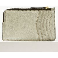 M&S Collection Leather Metallic Zip Detail Coin Purse