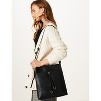 M&S Collection Faux Leather Ring Detail Messenger Bag