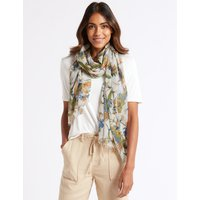 M&S Collection Floral Print Paisley Scarf