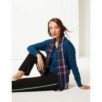M&S Collection Checked Scarf