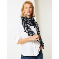 M&S Collection Printed Square Western Scarf