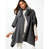 M&S Collection Faux Fur Collar Wrap