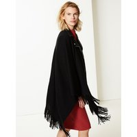 M&S Collection Textured Fringe Detail Wrap