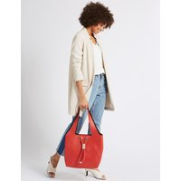 M&S Collection Faux Leather Toggle Shoulder Bag