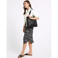 MandS Collection Leather 3 Compartment Tote Bag