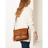 MandS Collection Leather Messenger Bag
