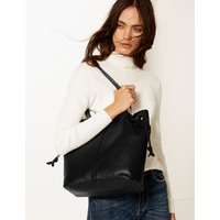 M&S Collection Leather Ring Tote Bag