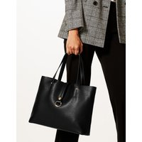 M&S Collection Faux Leather Ring Detail Tote Bag