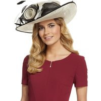 M&S Collection Big Rose & Mesh Wide Brim Hat