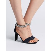 M&S Collection Stiletto Heel Jewel Ankle Strap Sandals