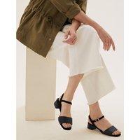 Ankle Strap Open Toe Sandals black