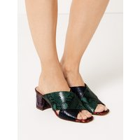 M&S Collection Animal Print Mule Sandals