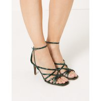 M&S Collection Stiletto Heel Ankle Strap Sandals