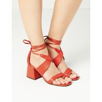 M&S Collection Ankle Tie Two Band Sandals
