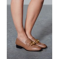 Autograph Leather Ring Detail Loafers