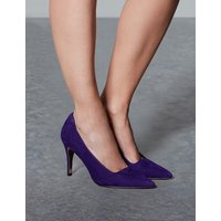 Autograph Suede Stiletto Heel Square Cut Court Shoes