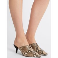 M&S Collection Wide Fit Kitten Heel Mule Shoes