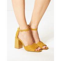 M&S Collection Wide Fit Block Heel Sandals