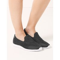 Light As Air Wide Fit Slip-on Trainers