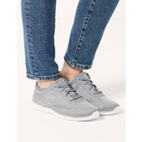 Light As Air Shimmer Wide Fit Lace-up Trainers