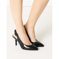 M&S Collection Extra Wide Fit Stiletto Heel Slingback Shoes