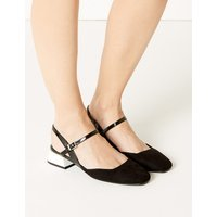 M&S Collection Statement Heel Strap Slingback Shoes