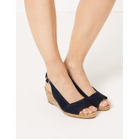 M&S Collection Suede Wedge Heel Slingback Sandals