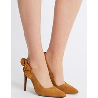 M&S Collection Suede Stiletto Heel Slingback Court Shoes