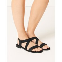 M&S Collection Elastic Sandals with Stain Resistant