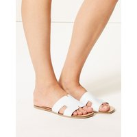 M&S Collection Leather H-Band Sliders