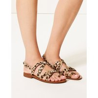 M&S Collection Leather Buckle Loop Sandals