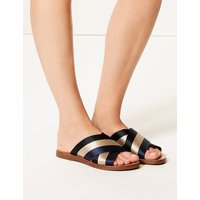 M&S Collection Cross Front Slide Sandals
