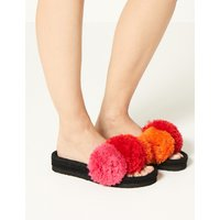 M&S Collection The Zo « Pom-Pom Sliders