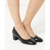 MandS Collection Wide Fit Leather Court Shoes