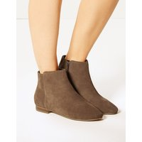 M&S Collection Suede Side Zip Ankle Boots