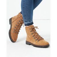 MandS Collection Suede Lace Up Hiker Ankle Boots