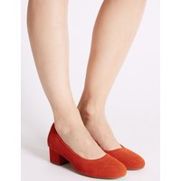 M&S Collection Suede Block Heel Court Shoes