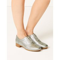 M&S Collection Leather Brogue Shoes