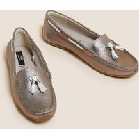 MandS Collection Wide Fit Leather Boat Shoes