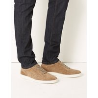 M&S Collection Suede Leather Lace-up Trainers