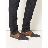 M&S Collection Lace-up Boat Shoes