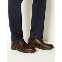 MandS Collection Wide Fit Leather Lace-up Derby Shoes