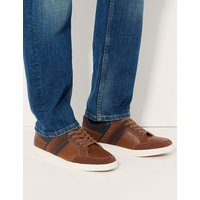 M&S Collection Lace-up Casual Trainers with Freshfeet