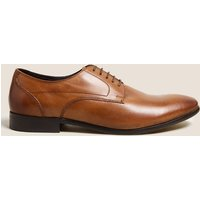 M&S Collection Leather Almond Toe Lace-up Derby Shoes