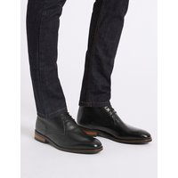 MandS Collection Extra Wide Leather Lace-up Chukka Boots