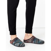 M&S Collection Aztec Print Mule Slippers