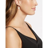 M&S Collection Sterling Silver Moonstone Drop Earrings